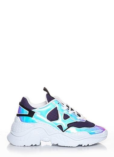 Efem Deri Sneakers Mor